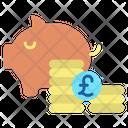 Minvestment Bank Money Pound Savings Icon