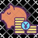 Mpiggy Bank Money Yen Savings Icon