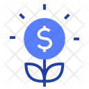 Money Flower Growing Icon