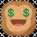 Money Monkey Emoji Icon