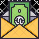 Money Mail Bill Icon