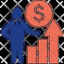 Money Analysis Leader Management Icon
