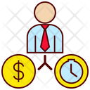 Money And Work Relation Icon