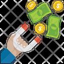 Money Attraction Wealth Attraction Cash Attraction Icon