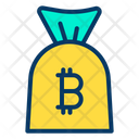 Bitcoin Bag Money Bag Currency Bag Icon