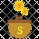 Money Bag Visa Card Mastercard Icon