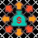 Money Bag Banking Network Icon