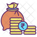 Mcoin Money Bag Rupee Icon