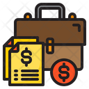 Money Bag Document Finance Icon