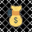 Paying Dollar Bag Icon