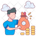 Sack Money Coin Icon