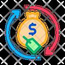 Money Bag Repeat Icon