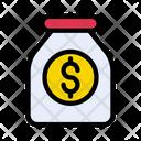 Money Jar Dollar Icon