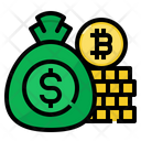 Money Bag Bitcoin Icon