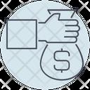 Business Money Hand Icon