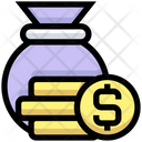 Money Bag Gold Bag Icon