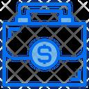 Briefcase Baggage Money Icon