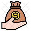 Money Bag Hand Finance Icon