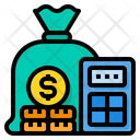 Budget Calculator Cost Icon