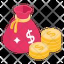 Savings Investment Money Bag Icon