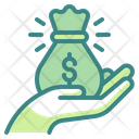 Money Bag Money Sack Hand Icon