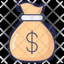 Cash Bag Stack Icon