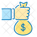 Money Bag Sponsor Hand Icon
