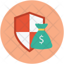 Money bag shield Icon