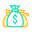 Money Bags Color Icon