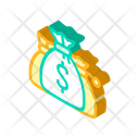 Money Bags Isometric Icon