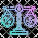Balance Scale Tax Icon