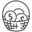 Money Basket Icon