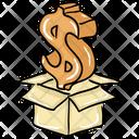 Money Box Savings Investment Icon