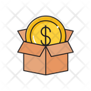 Dollar Box Delivery Icon
