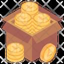 Coins Box Cash Box Money Box Icon