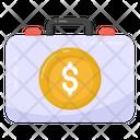 Cash Case Money Briefcase Dollar Briefcase Icon