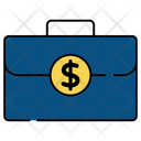 Money Bag Money Briefcase Money Suitcase Icon