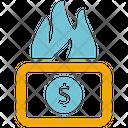 Money Burning Money Loss Icon
