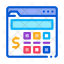Money Calculator Renting Icon