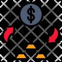 Money Change Gold Icon