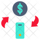 Money Change Mobile Mobile Money Icon