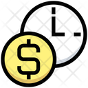 Money Clock Timer Time Icon