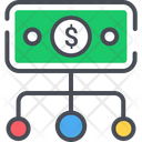 Money Control Strategy Financial Flow Icon