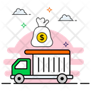 Bank Delivery Services Cash Delivery Banking Vehicle Icon
