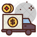Money Delivery Truck Delivery Truck Money Delivery Icon