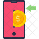 Dollar Coin Mobile Phone Left Arrow Icon