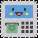Money Dispenser Atm Emoji Atm Machine Emoticon Icon