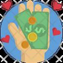 Hand Money Help Icon