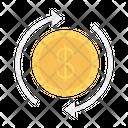 Exchange Transfer Dollar Icon