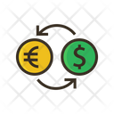 Money Exchange Transfer Ratio Exchange Rate Icon